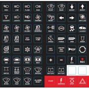 MoTec Keypad Label Sheets